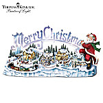 Thomas Kinkade Musical Illuminated Miniature Village Figurine: Santas Inspiration