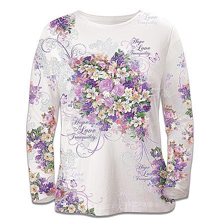 Alzheimer's Disease Support Artistic Long-Sleeved Shirt: Love Always Remembers