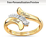 Our Love Grows Stronger Personalized Journey Ring: Romantic Jewelry For Her