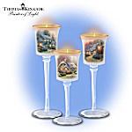 Thomas Kinkade's Glow Of Elegance Candleholder Set