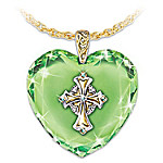 Irish Celtic Cross Pendant Necklace: Emerald Isle Blessings