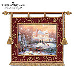 Thomas Kinkade Christmas Tradition Fiber Optic Illuminated Wall Decor