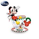 Disney Mickeys Christmas Cheer Teacup Figurine