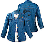 Love Always, Elvis Women's Denim Jacket