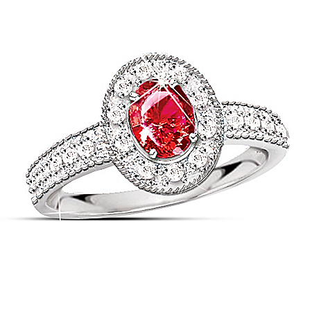 The Legend Of The Ruby Ring: Ruby And Diamond Ring