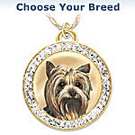 Schnauzer Friend Fur-Ever Pendant Necklace with Swarovski Crystals
