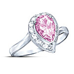 Pink Topaz Women's Journey Ring: Love Always