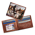 Eagle Art Leather Wallet: Monarchs Of The Canyon