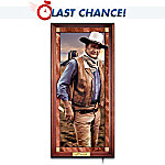 John Wayne: Hero Of The West Illuminated Stained-Glass Panorama Wall Decor