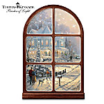 Thomas Kinkade A Holiday Gathering Musical And Illuminated Wall Sculpture