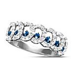 Serenity Diamond And Sapphire Eternity Ring