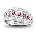 Hearts of Love Ruby & Diamond Ring