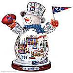 New York Giants Masterpiece Edition Crystal Snowman Figurine