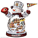 Washington Redskins Masterpiece Edition Crystal Snowman Figurine