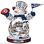 Dallas Cowboys Masterpiece Edition Crystal Snowman Figurine