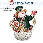 """The """"Glistening Holiday Treasures"""" Peter Carl Faberge-Style Snowman Figurine"""