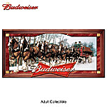 Budweiser Clydesdales Stained-Glass Panorama Wall Decor