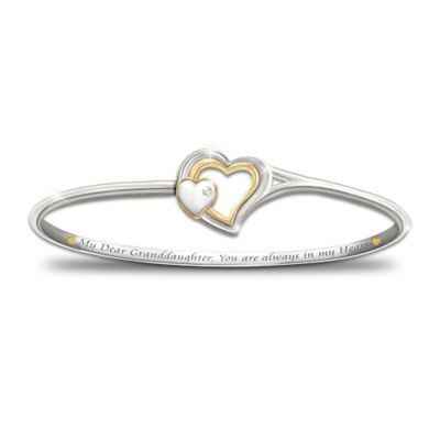 Always In My Heart Diamond Bracelet Plated With Sterling Silver And 24K Gold