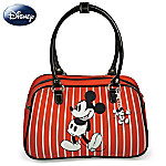 Disney Retro Mickey And Minnie Purse With Two Free Detachable Key Chains
