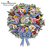 Thomas Kinkade Welcome Wreath Featuring Each State's Official Flower