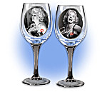 Marilyn Monroe Signature Wine Glassware Set