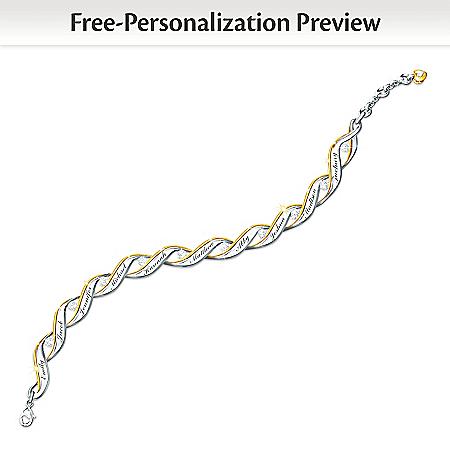 Family Of Love Personalized Diamond Bracelet