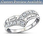 Valentines Gifts Our Enduring Love Personalized Diamond Ring