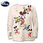 Disney Retro Mickey Mouse Sepia-Toned Womens Shirt