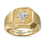 The Devotion Diamond Men's Ring With A Cross Design