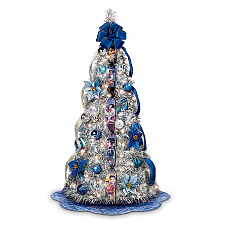The Elvis Blue Christmas Pull-Up Christmas Tree: Pre-Lit ...