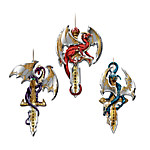Dragon Guardians Of The Crystal Realm Ornament Set