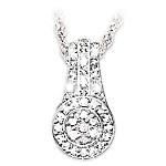 Message Of Love Diamond Pendant Necklace