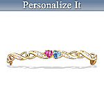 Loves Journey Personalized Womens Bracelet With Birthstones