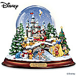 """""""An Old Fashioned Disney Christmas"""" Musical Snowglobe Showcasing 13 Classic Characters"""