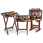 The John Wayne Tray Table Set: Includes A Free Storage Stand