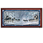 Wilderness Encounter Stained-Glass Panorama Wall Decor