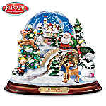 Rudolph The Red-Nosed Reindeer Illuminated And Musical Snow Globe