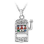 Lucky Jackpot Slot Machine Pendant Necklace