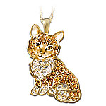Purr-fect Kitten Crystal Pendant Necklace
