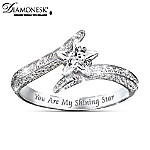 My Daughter, You Are My Shining Star Sterling Silver Womens Ring