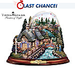 Thomas Kinkade Love In Bloom Musical Water Globe