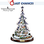 Thomas Kinkade Let It Snow Animated And Musical Tabletop Tree