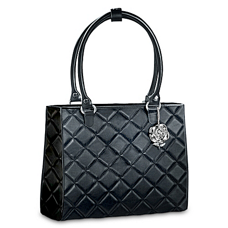 """The People's Princess"" Black Diamond Pattern Purse: Princess Diana-Inspired"