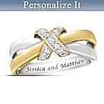 Eternity's Kiss Diamond Personalized Women's Ring