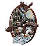 Thundering Falls Eagle Wall Decor: Grasp Natures Awesome Power