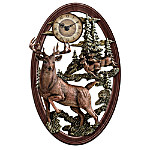 Timeless Legends Of The Forest Whitetail Deer Wall Clock