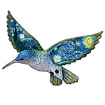 Starry Night Wall Decor Art: Hummingbird Wall Sculpture