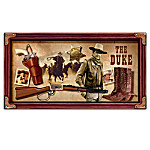John Wayne Collectibles: Western Essentials Wall Decor With Pistol, Boots, Rifle And Marshal Star