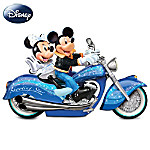 Mickey And Minnie: Star Power Motorcycle Sculpture