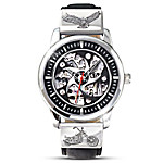 Freedom's Ride Motorcycle Skeleton Watch